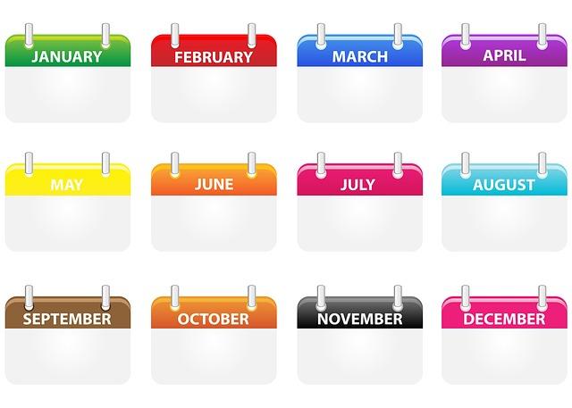 kalendář ikony
