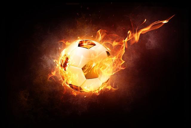 hořící míč