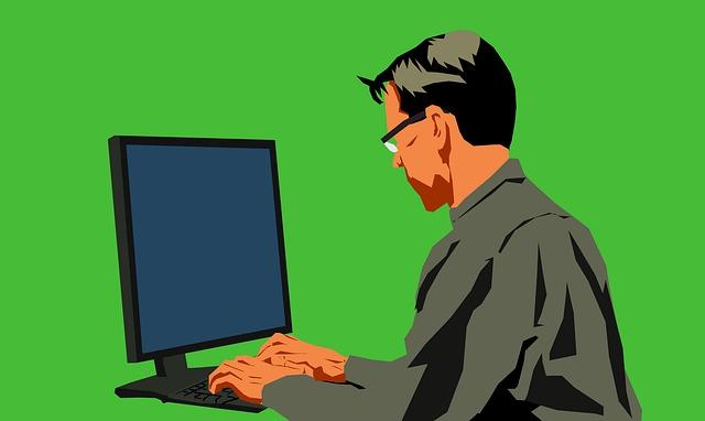 člověk u počítače